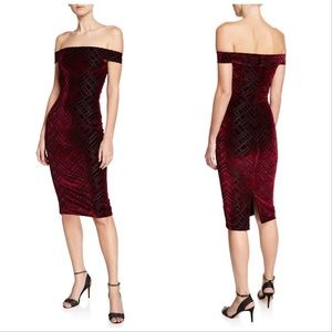 Dress the Population Eden Patterned Velvet dress